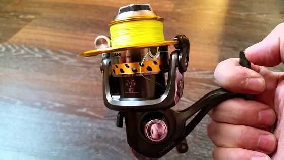 Намотка на рыболовную катушку