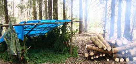 В походе без палатки
