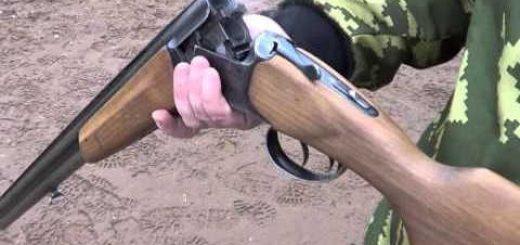 ИЖ-27М стрельба дуплетом