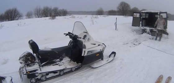 Покатушки на снегоходе ВАРЯГ 550