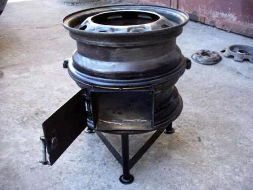 Печь под казан из авто дисков