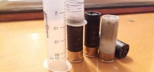 Как при помощи шприца снарядить патрон 12 калибра