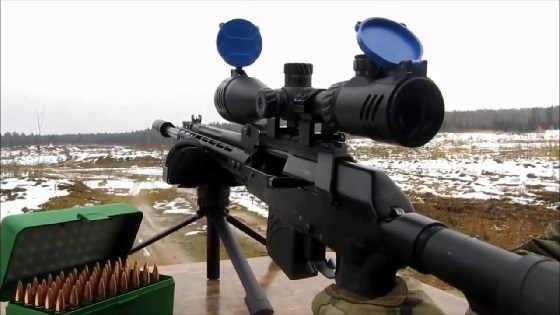 Стрельба из Вепрь - 308 на 500 метров