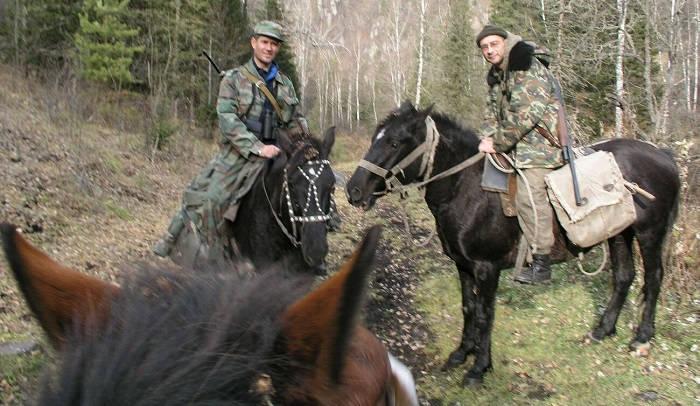 Охота верхом на лошадях