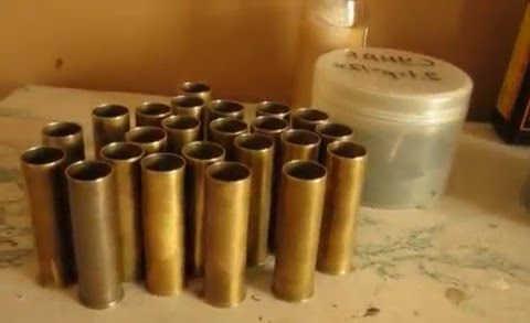Снаряжение патронов в латунную гильзу 12 к