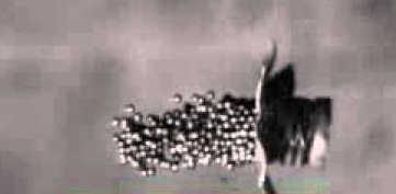 Замедленная съемка полета дроби