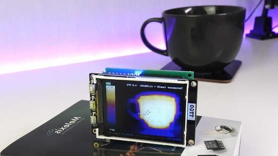 Самодельный тепловизор на MLX90640