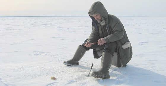 Ловля на мели со льда