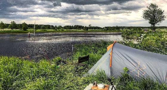 Рыбалка с Ночёвкой на Диком Озере
