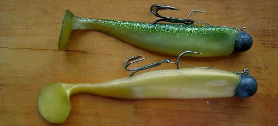 Монтаж рыболовных силиконовых приманок