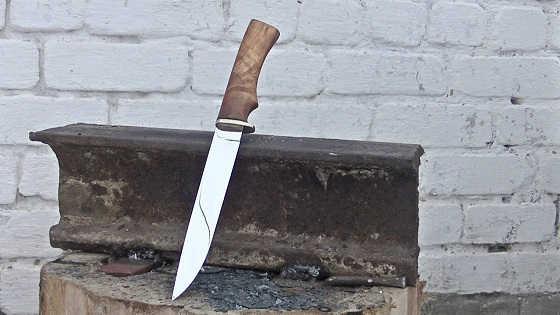 Как сделать нож из рессоры своими руками