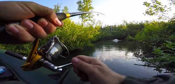 Рыбалка на красивой речке