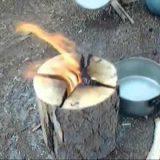 Самый простой способ разжечь огонь в лесу