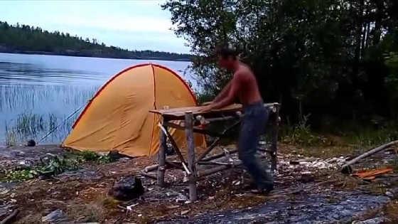 Как обогреть палатку до утра