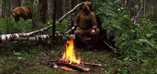 Ночёвка в мокром лесу