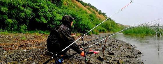 Рыбалка в дождь летом