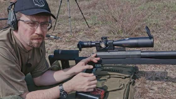 Стрельба на 1,5 км из 50-го калибра Armalite AR-50A1