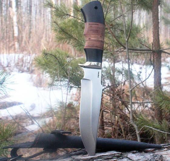 Кованый нож из стали х12мф