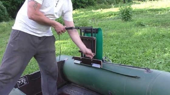 Установка кресла в лодку ПВХ