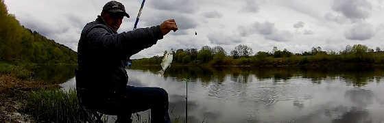 Трудовая рыбалка на Оке