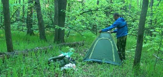 Одиночный поход: НОЧЬ в лесу
