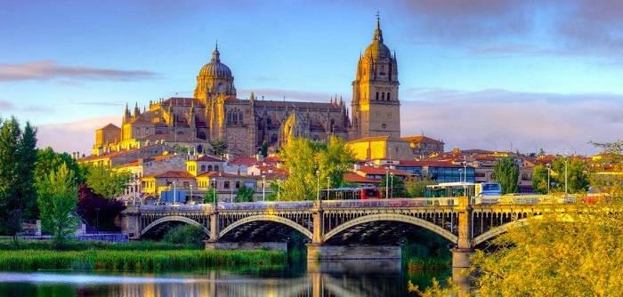 Город Саламанка в Испании