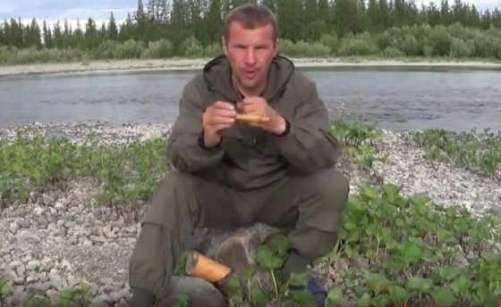 Рыболовная снасть на хищную рыбу из бересты
