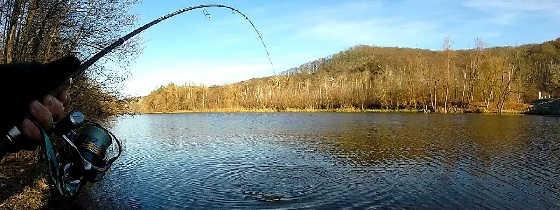 Поздней осенью рыбачим на спиннинг