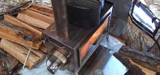 Правила отопления палатки печью