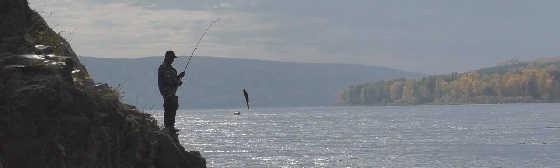 Рыбалка на реке Енисей