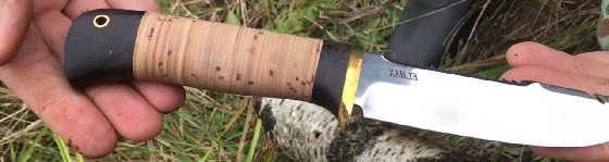 рукоять ножа из бересты делаем дома