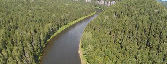 Река Березовая в Пермском крае