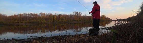Рыбалка на Фидер поздней Осенью 2019