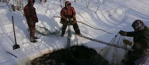 Древний метод рыбалки хантов