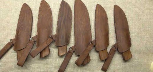 Нож со сложным больстером