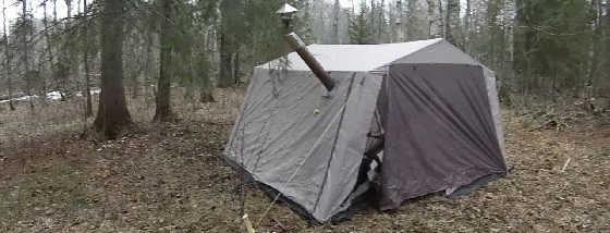 Обогрев палатки в лесу или на рыбалке