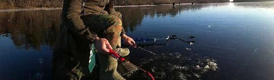 Рыбалка по первому льду в тайге