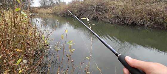 Рыбалка на спиннинг в ноябре на малой реке