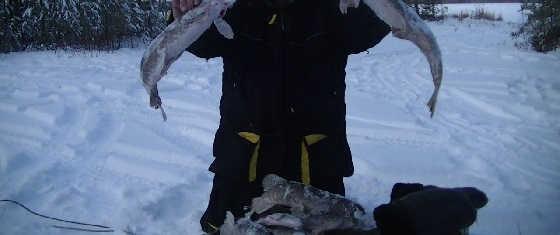 Зимняя рыбалка с ночёвкой в Сибири