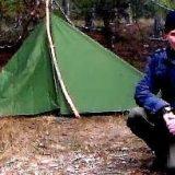 Обогрев палатки дедовским способом
