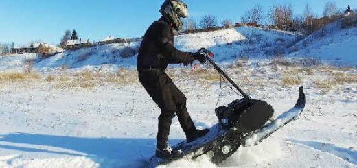 Снегоход своими руками: ИСПЫТАНИЯ