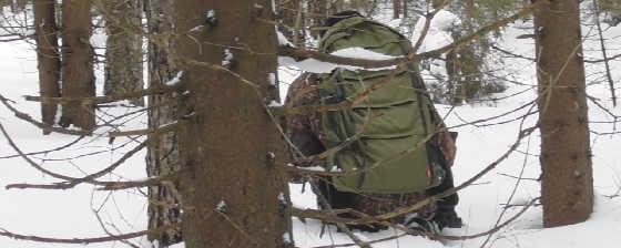 Охота в зимнем лесу