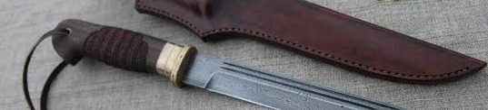 """создание """"пластунского ножа"""" из дамаска"""