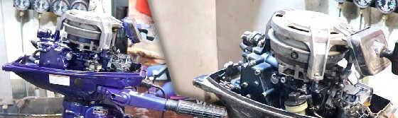 Ремонт и покраска лодочного мотора YAMAHA 6
