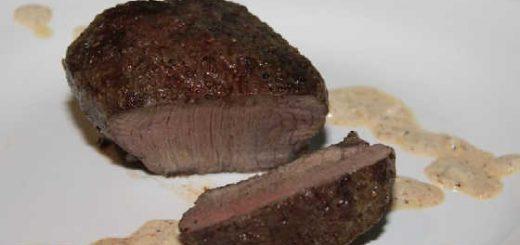 стейк из лосятины на костре