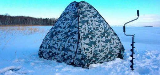 Зимняя рыбалка в палатке в Архангельской области