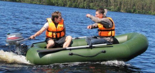 Безопасность на воде в надувной лодке
