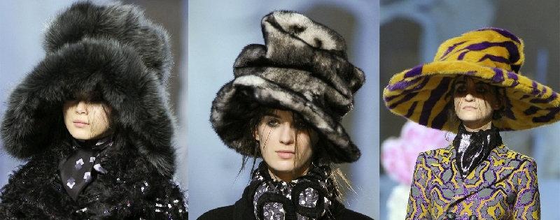 женские шапки из меха