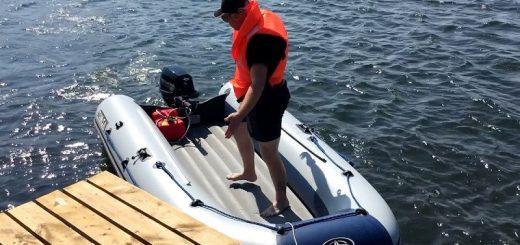 лодка ПВХ с надувным дном низкого давления