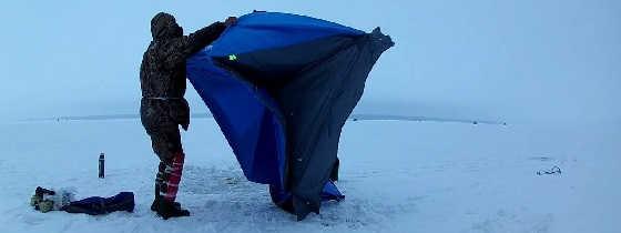 Зимняя рыбалка в феврале в палатке с ночевкой